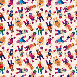 seamless wrestler pattern