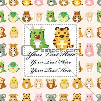 12 animal,Chinese Zodiac animal  card