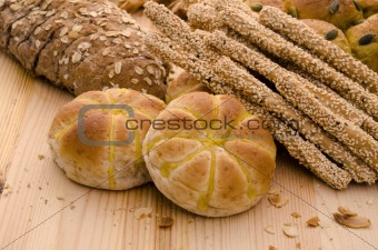 Variety of Organic Breads