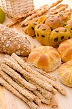 various assorted baked breads