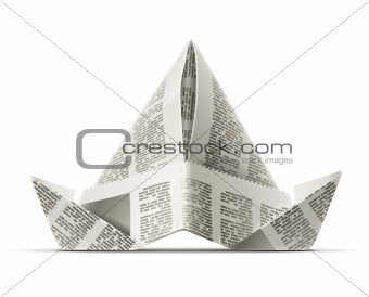 paper cap as origami handicraft