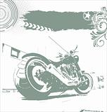 grunge motorbike background