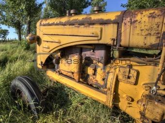 Old Vintage Farm tractor