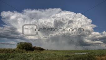 Prairie Road Storm Clouds