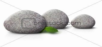 Three spa stones