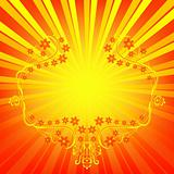 Orange background with rays