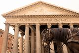 horse carriage and Pantheon