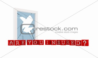 Are you Insured Concept isolated over white background