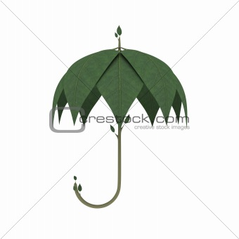 Green Umbrella as Ecology concept