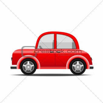 red car, vector