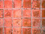 Red tile ceramic floor