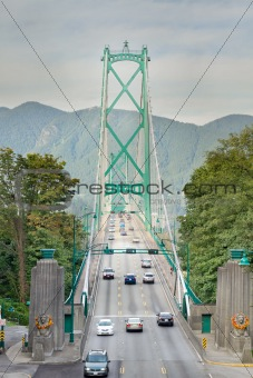 Lions Gate Bridge Entrance in Vancouver BC
