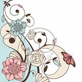 cute floral vector illustration