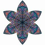 vector abstract eastern style flower