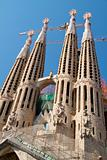 BARCELONA, SPAIN - May 23: La Sagrada Familia - the impressive c