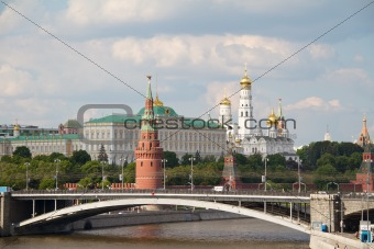 Famous Moscow Kremlin and Moskva river, Russia