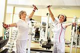 Seniors weightlifting