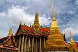 Magnificent Golden Stupa in Wat Phra Kaeo, Grand Palace (Bangkok