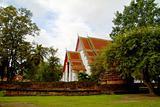 King Palace Wat mongkolpraphitara in Ayutthaya, Thailand