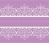 Floral vector seamless lace pattern with flowers.