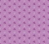 Floral vector seamless lace pattern with heart flower.