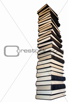 Tower  of old books.