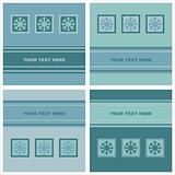 cute winter snowflakes cards
