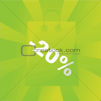 green shopping bag background