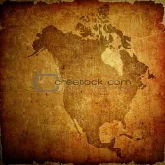 aged America map vintage