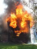Raging House Fire