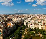 Barcelona cityscape from Sagrada Familia