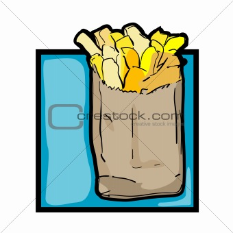 Clip art french fries