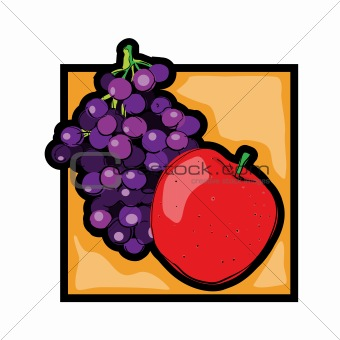 Clip art fresh fruits