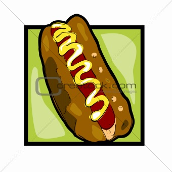 Clip art hot dog