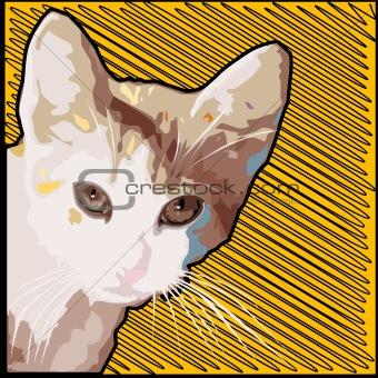 Grunge cat background
