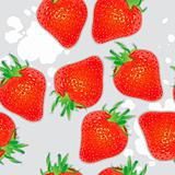 Seamless straberries background