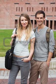 Portrait of a charming couple posing