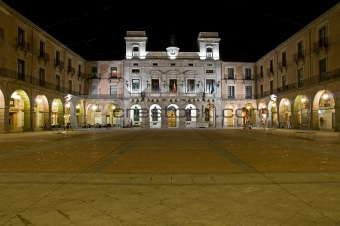 square at night