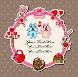 cartoon love card