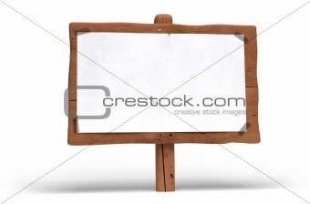 green sign, eco wood post, wooden panel