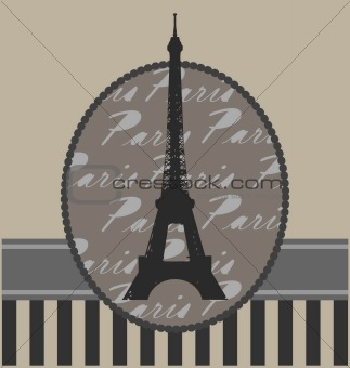 background with tour Eiffel