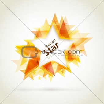 Abstract golden star