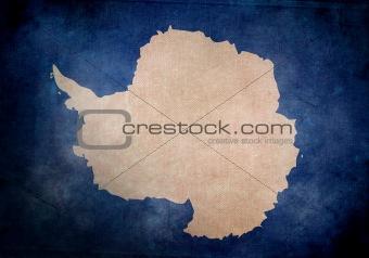 Antarctica Grunge Flag