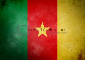 Cameroon Grunge Flag
