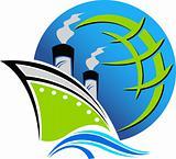 ship travel logo