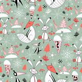 winter pattern of foxes and hares