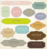 vintage labels - set