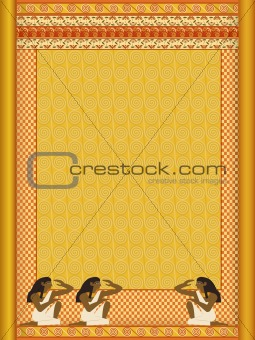 background stylized in under ancient Egyptian