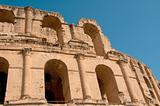 Tunisian Colosseum - dilapidated arches