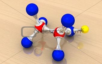 alcohol (ethanol) molecule